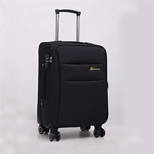 Zhengowen Equipaje Oxford Brake Bag Maleta Profesional Ruedita Herramienta Trolley Case Chasis Trolley Case 20-28 Inch Equipaje Maleta de Equipaje (Color : Negro, tamaño : 26Inch)
