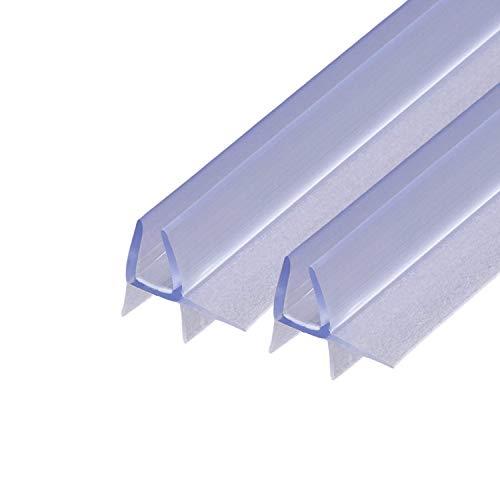 2x 100cm Sealis Guarnizione Ricambio - Guarnizione Sottoporta Doccia per Vetri di Spessore 4mm/ 5mm Profilo Box Doccia Guarnizione Aletta Doccia - Trasparente