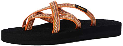 Teva Damen Olowahu Sandal Womens Pantoffeln, Orange (Antiguous Sunflower Asnf), 37 EU