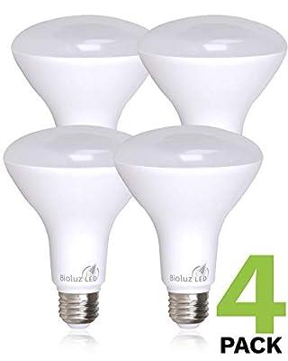 Bioluz LED BR30 LED Dimmable Bulb, 65W Equivalent (Uses 8W) 700 lumen, 3000K (Soft White), Indoor/Outdoor Flood Light, 110° Beam Angle, E26 Medium Base, UL-Listed