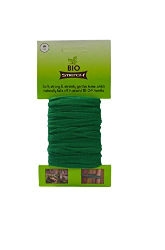 Biostretch, Soft Stretchy Garden Twine Environmentally Smart non Twist Wire Plant Ties (Bio 8M Card)