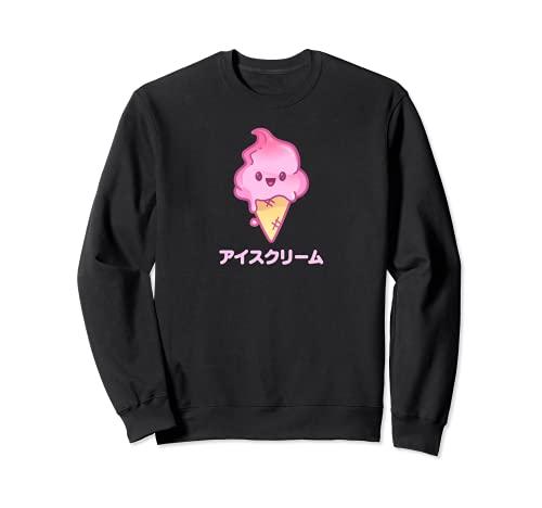 Ice Cream Japanisch Eis Kawaii Aesthetic Eiscreme Waffeleis Sweatshirt