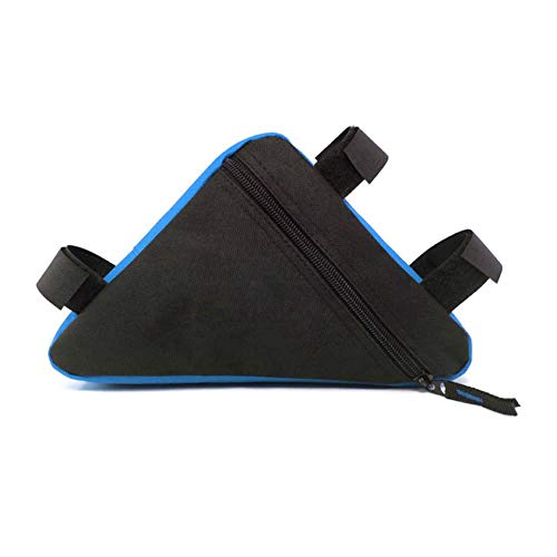 WOOAI Imperméable Triangle Poche Vélo Vélo Vélo Sacs Avant Tube Cadre Sac Porte-Selle VTT Accessoires De Téléphone Portable De Vélo De Montagne, Couleur: Bleu Noir