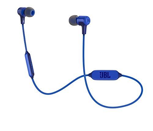 JBL E25BT In Ear Bluetooth Kopfhörer in Blau – Kabelloser Ohrhörer mit 3-Tasten-Fernbedienung & Mikrofon – Wireless Headphones für bis zu 8 Stunden Musik und Telefonate
