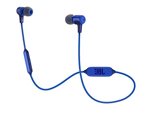 JBL E25BT - Auriculares intraurales inalámbricos con micrófono y bluetooth, batería de hasta 8 horas, azul