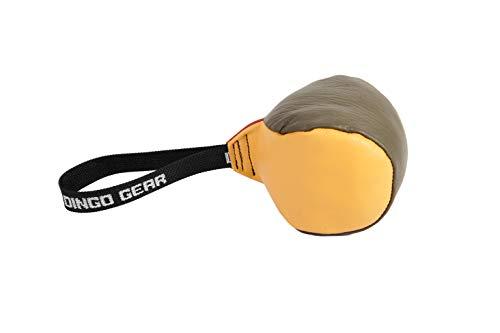 Dingo Gear Hundespielzeug Softball mit Griff handgefertigt aus echtem genarbtem Leder für Bisstraining und Apprive für Junge Hunde S02779