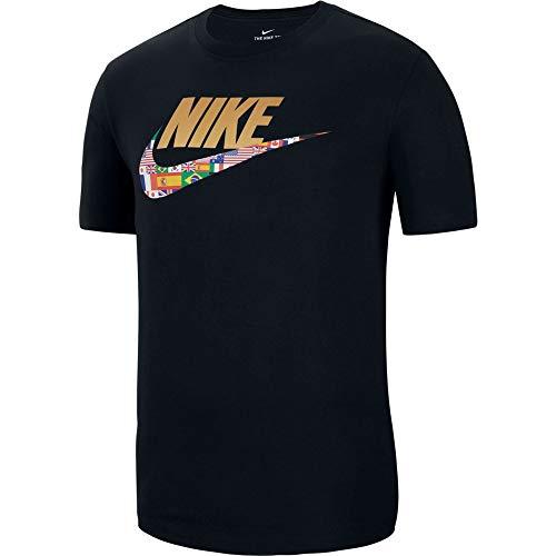 Nike - T-Shirt Preheat Flag Swoosh CT6550 010 - CT6550 010 - S (42-44) Uomo, Nero