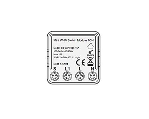 Kingled - Mini módulo Switch Gestión de interruptor para un circuito de luz inteligente WiFi - Compatible con Alexa, Google y Smartphone