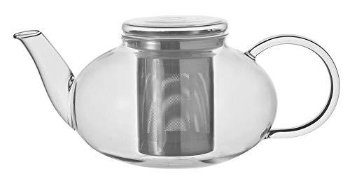 Leonardo theepot Moon, 1,2 l, hittebestendig glas, deksel en roestvrijstalen zeef afneembaar, handgemaakt, 070400
