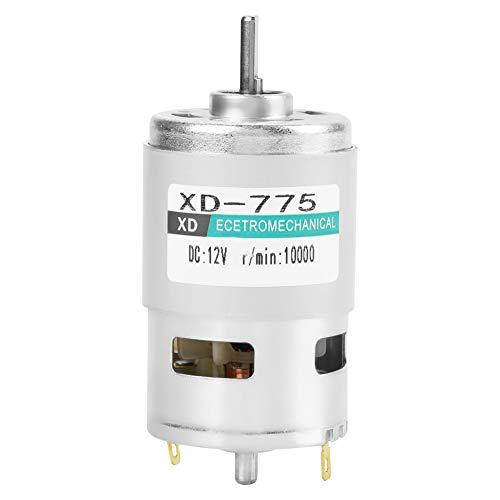 Motor de ventilador eléctrico XD-775 12V/24V Motor de engranaje eléctrico Motor de Corrente Continua con cepillo de rodamiento de bolas doble de bajo ruido(12V10000转)