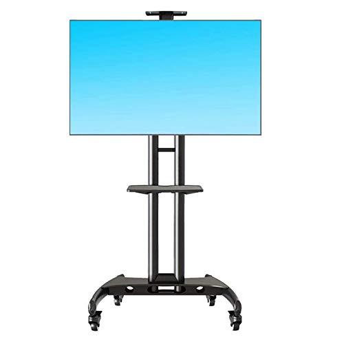 YaGFeng Soporte para TV Móvil Ajustable en Altura con Ruedas de Bloqueo, Adecuado para Televisores de Pantalla Plana LED de 32'-65' con Un Peso de 45 Kg