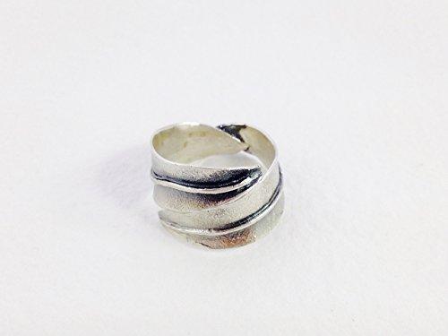 Anillo Hoja de Olivo en Plata Oxidada | anillo ancho | anillo bohemio | art nouveau | plata de ley | regalo día de la madre | Diseño natural | Moda Primavera