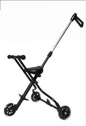 ハンディーキッズスクーター ベビーカー折畳み日傘 超軽量で (ブラック)