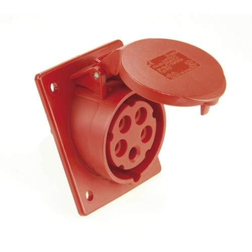 SIROX® CEE-Anbaudose IP 44, 5-polig, 400 V, 6 h, schräg Stromstärke 16 A, Anschlusstechnik Schraubklemme, Flanschmaß 80 x 97 mm