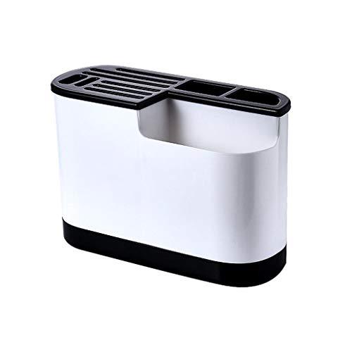 Kitchen Multi Function Utensil Holder Flatware Set Storage Box Kitchen Small Cutlery Tool Organizer Rack - Black Style B