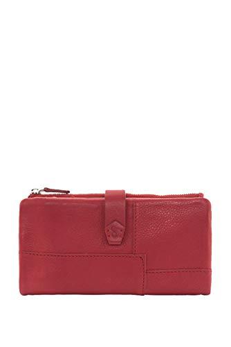 Cartera Abbacino Grande De Piel roja (18x3x10 cm)