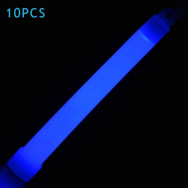 FidgetGear 10pcs 6inch Industrial Grade Glow Sticks Light Stick Party Camping Glowstick bluee
