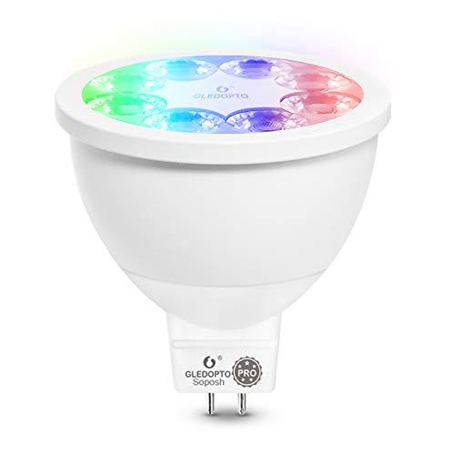 MR16 GU5.3 LED Birne 4W, ZigBee Wireless Smart Glühbirnen, 12 V, RGB CCT Dimmbares Farbflutlicht 30 ° Abstrahlwinkel Unterstützt Smart Phone App Control Funktioniert mit Amazon Echo Plus