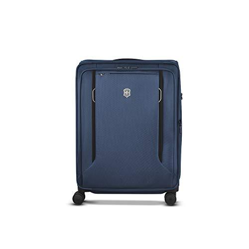 Victorinox Werks Traveler 6.0 Softside Large Case - Valise Souple Extensible - Bagage Grande Taille - 4 roulettes -34x53x71cm - 104l - 4.9Kg - Bleu