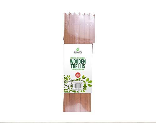 MD MUZ Light Wood/tan Wood 5ft x 2ft EXPANDING WOODEN TRELLIS Garden Climbing Plant Rose Flower Wood