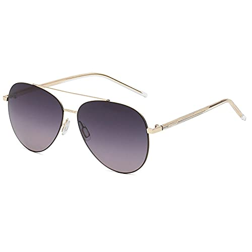 XXBFDT Al-Mg, metal rectangular - Gafas de sol UV400 UV Protection-C3