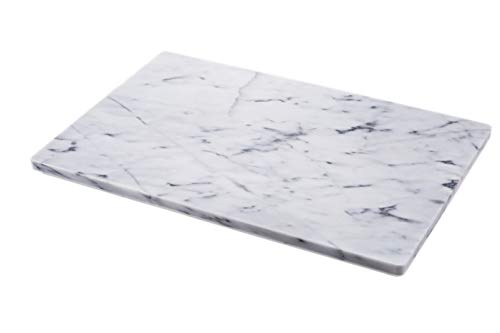 JEmarble Pastry Board 16x20 inch with No-Slip Rubber Feet for Stability