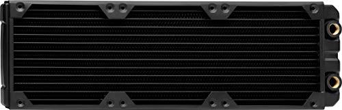 Corsair Hydro X Series XR5 Radiator (240 mm, Zwei 120-mm-Lüfterbefestigungen, Einfache Installation, Kupferkonstruktion, Hochwertige Polyurethan-Beschichtung, Integrierte Schraubenführungen) schwarz