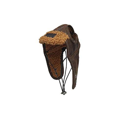 shentaotao 1pack Hund Fliegermütze Hundewinter-Pilot Hut Mit Ohrenklappen Haustier-Partei-kostüm-zusatz Pu-warmen Hut Für Kleine Und Mittlere Hunde (Kaffee, M)