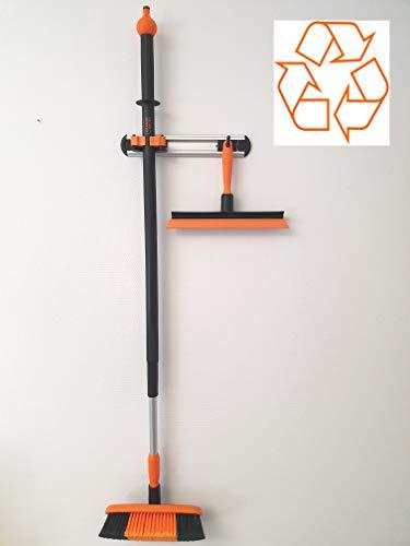 OrangeBrush professionele wasborstelset 4-delig Wasborstel met telescopische steel en eendelige handtrekker. Set met tot 98% recyclinggehalte.