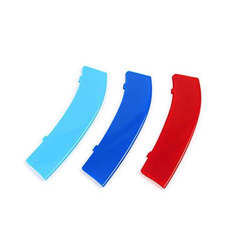 M Colore Adesivi per griglia Anteriore, Clip di Grille del Rene, Grill Inserire copertine per 3 Series E90 E91 320 325 330 335 2005-2008 3 Pezzi (12 Rod)