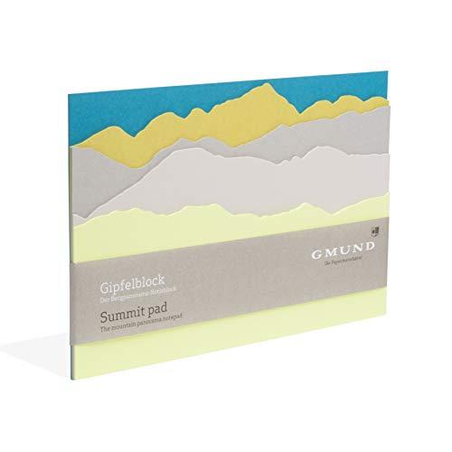 Gmund Papier Notizblock 35 Blatt gestanzt (Gipfelblock A5 14,8 x 21,0 cm)