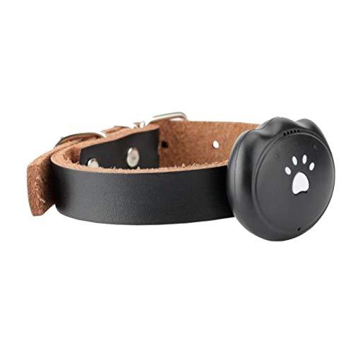 Yiqing Pet Locator Hund und Katze Halsband GPS Intelligente Wasserdichte Verfolger Anti-Lost-Gerät,Black