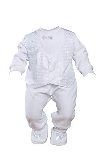 Little Castle Garden Baby Taufanzug Strampler Taufstrampler Jungen Nikki Set 3Tlg Neu (74/80 (6-9M))