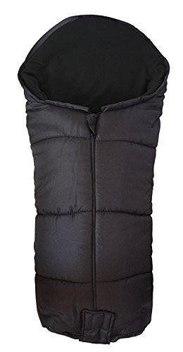 Deluxe/Chancelière cosy orteils Compatible avec chenille Babystyle Oyster Max Gem IMP Noir
