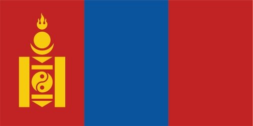 Kiwistar Autoaufkleber Sticker Fahne Flagge Aufkleber 10cm Mongolei laminiert sehr Lange Haltbar