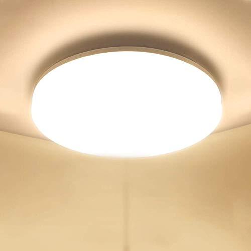 Plafoniera LED Soffitto 48W Plafoniere da Soffitto Ketom Bianco Caldo 3000K Ultra Magro LED Soffitto Rotondo 4320LM IP44 Lampada da Soffitto LED Moderna per Corridoio, Bagno, Camera da letto, Ø30CM
