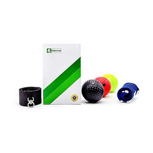 Gdaytao Boxing Reflex Ball, 3 Levels Activpulse Reflex Ball with Adjustable Headband, Boxing Trainer for Hand Eye Coordination, Punching Ball for Reactions, Great Boxing Equipment for Kids/Adults