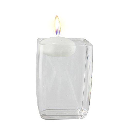 Large Floating Candles - Wedding Centrepiece Longlife[White,15 Candles]