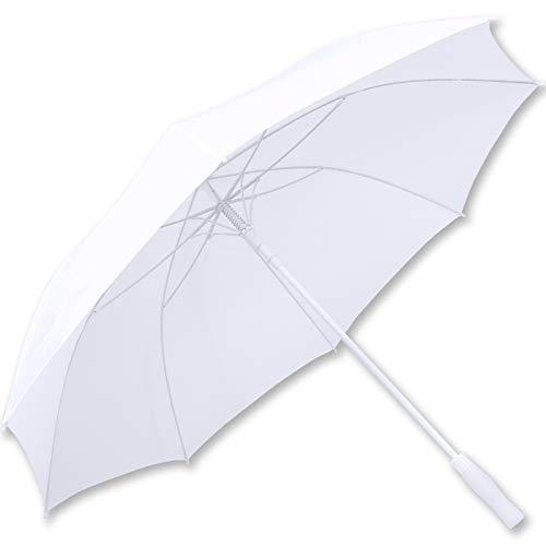 iX-brella XXL Brautschirm Hochzeitsschirm Automatik - All In White