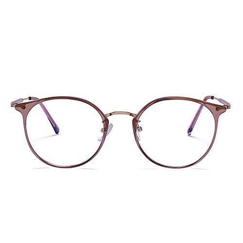 2020 VentiVenti Blue Light Blocking Cat Eye Lightweight Metal Frame Glasses for Women Eyeglasses Anti Blue Ray Computer Game Glasses Rose Gold