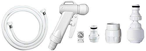 Siroflex Doccetta per WC 2013/2S, Strumento Spruzzatore a Mano per Bidet Portatile, Ideale per Igiene Personale, Bagno, Kit Tubo, Doccia, Doccetta