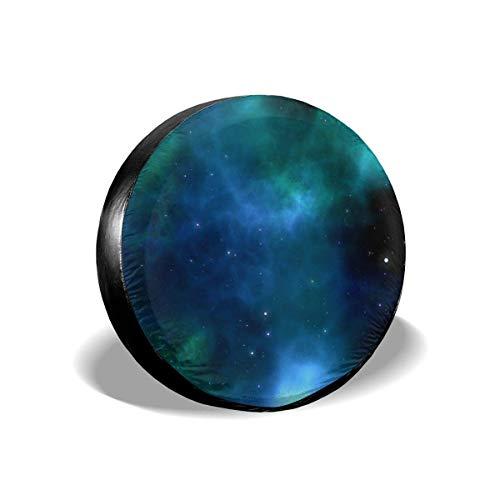 Space Star Universe Sky Galaxy Potable Poliéster Universal Rueda de Repuesto Cubierta de neumático Cubiertas de Rueda para camión, Viaje, Remolque, Accesorios, 16 Pulgadas