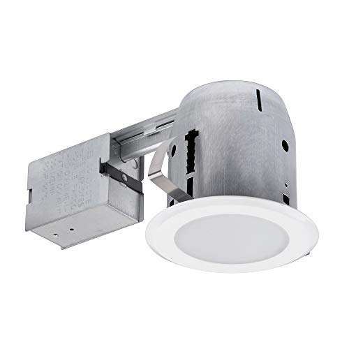 Globe Electric 90752 Bathroom Recessed Lighting Kit, 1 Pack, White