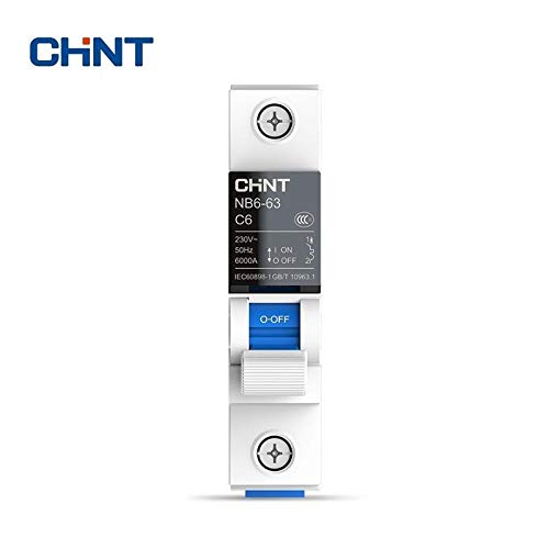 CHINT Miniature Circuit Breaker Overload Protection TaiChi NB6-63 1P Series Household Air Switch 10A 16A 20A 25A 32A 40A 50A 63A-1P_50A