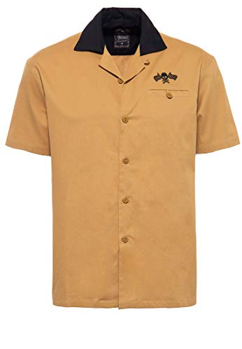 King Kerosin King Camisa de Bowling para Hombre