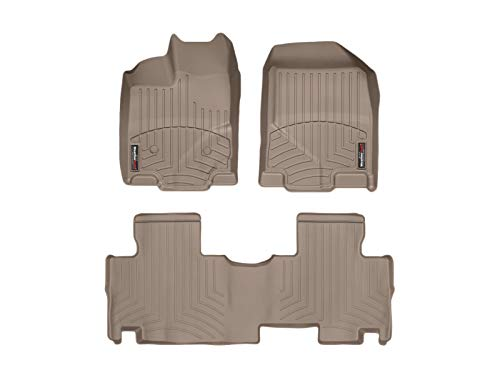 WeatherTech Custom Fit FloorLiner for Edge/MKX - 1st & 2nd Row (Tan)
