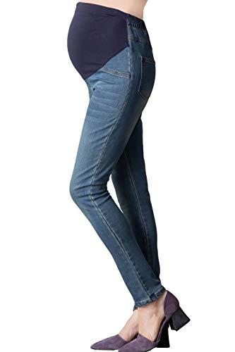 Sweet Mommy sp5057Jeans von Schwangerschaft Skinny Gr. 42, Blau - Hellblau