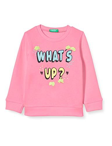 UNITED COLORS OF BENETTON Felpa Sweat-Shirt À Capuche Sport, Rose (Sugar Plum 40j), 86/92 (Taille Fabricant: 2Y) Bébé Fille