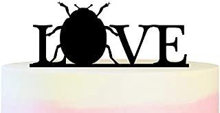 TC0095 Love Ladybug Party Wedding Birthday Acrylic Cake Topper Cupcake Toppers Decor Set 11 pcs