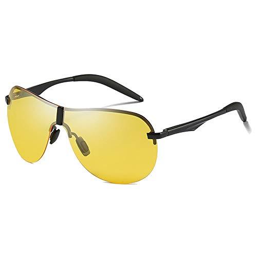 Stella Fella Gafas de sol de aluminio polarizadas con material de magnesio, color amarillo/marrón para conducir, para hombre, color amarillo